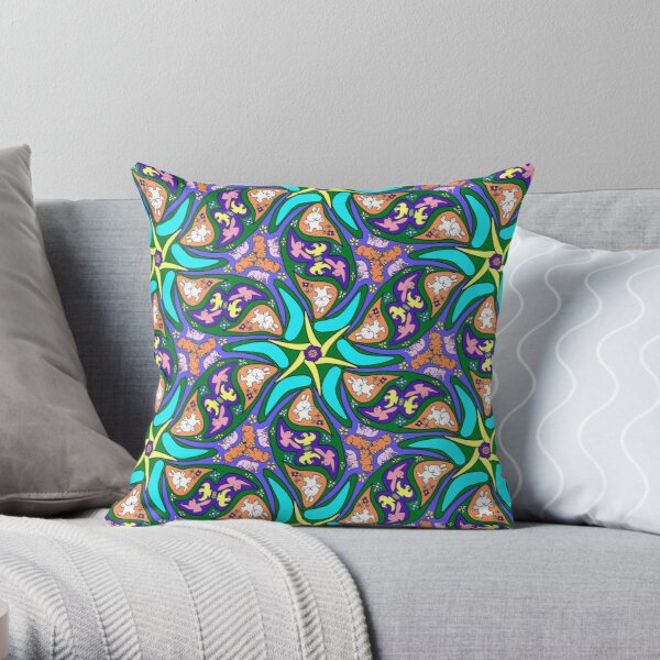 petals and pipsqueaks flashy pattern Throw Pillow