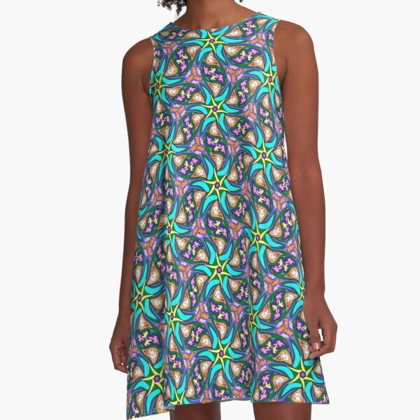 petals and pipsqueaks flashy pattern A-Line Dress