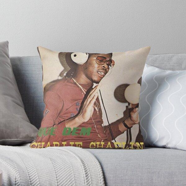 Que Dem Charlie Chaplin Reggae DJ 1980s Record Cover Dancehall Reggae Throw Pillow