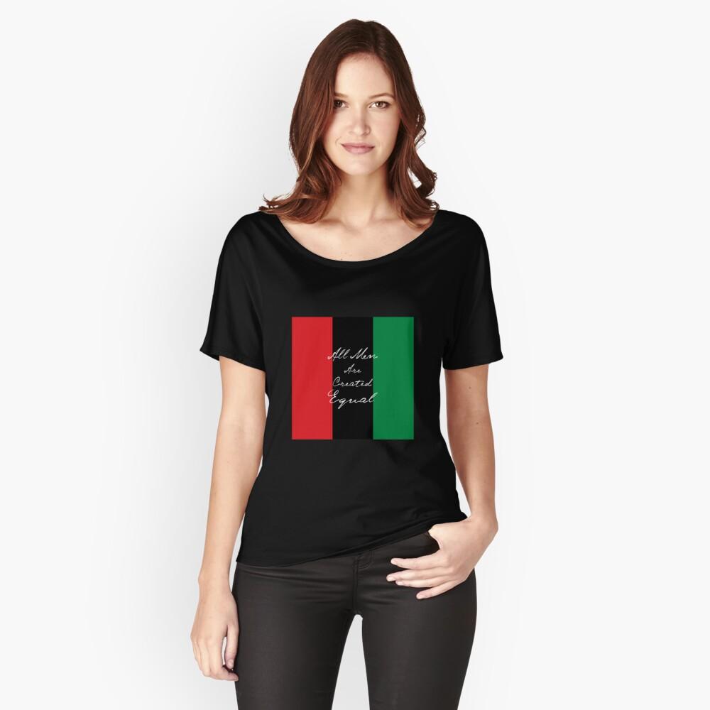 Alle Männer sind gleich Afro-Flagge Loose Fit T-Shirt
