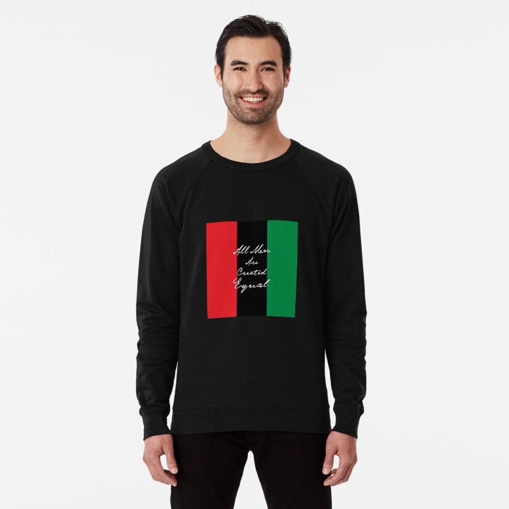 Alle Männer sind gleich Afro-Flagge Leichter Pullover