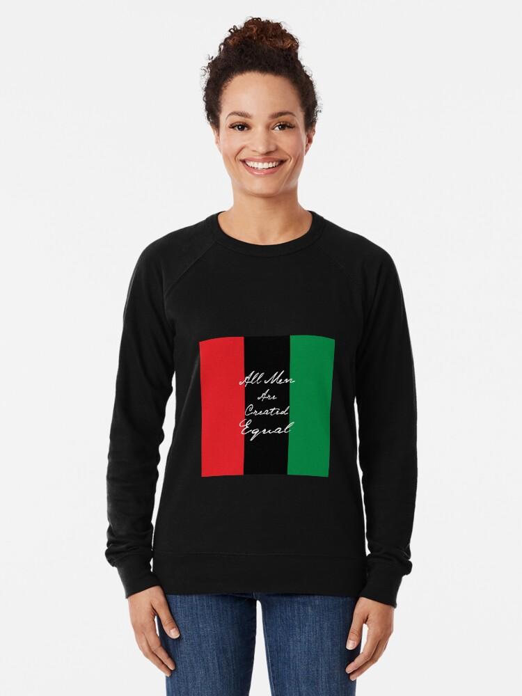 Alternative Ansicht von Alle Männer sind gleich Afro-Flagge Leichter Pullover