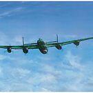 Lancaster In Flight by Lee Twigger