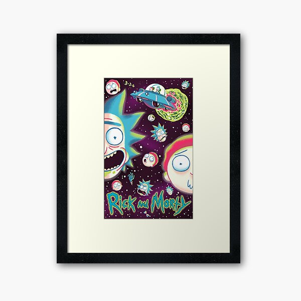 Rick and Morty Galaxy Framed Art Print