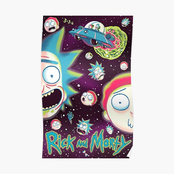Rick and Morty Galaxy Poster