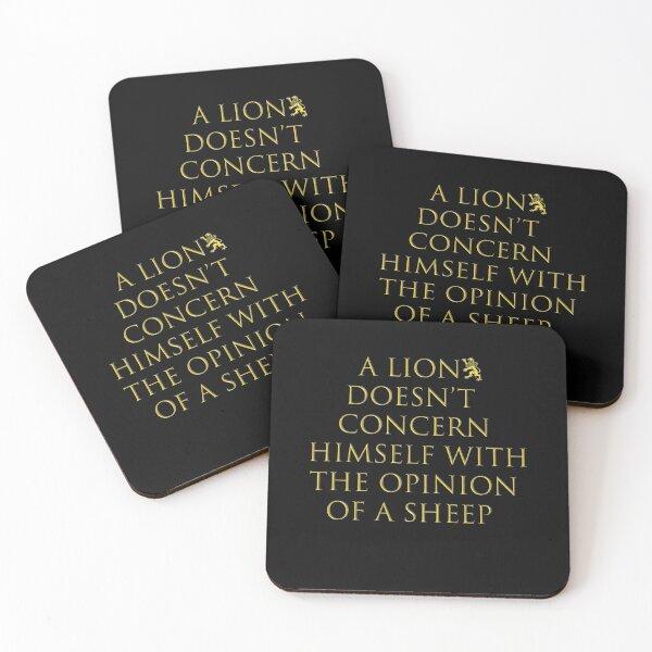 Lannisters: A lion does not concern himself... (Golden Option) Coasters (Set of 4)