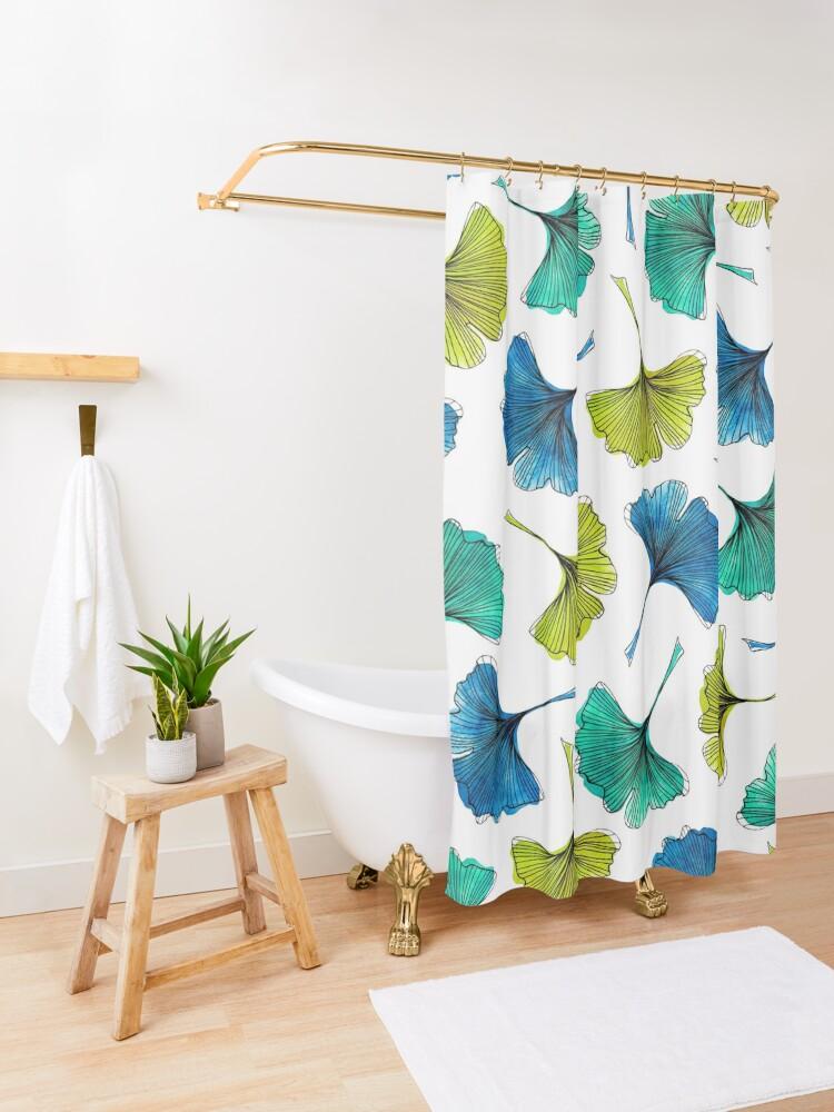 Alternate view of Ginkgo Flush Shower Curtain