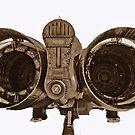 F111, rear end, b&w by bazcelt
