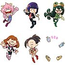Class 1-A Girls: Hero Outfits Set Sticker by pomodoko