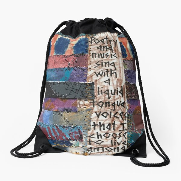 Poetry and Music Sing Drawstring Bag