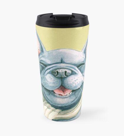 Blue Frenchy Travel Mug