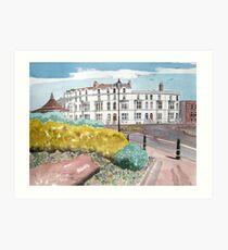 """""""An Evening Stroll"""" - Burnham-on-Sea, Somerset Art Print"""