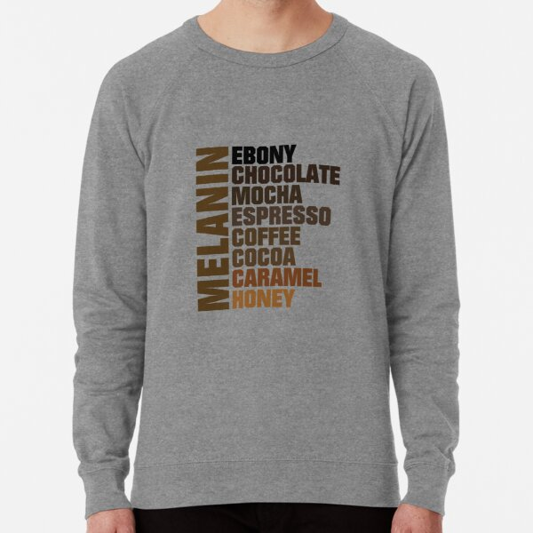 Melanin All Shades of Brown Lightweight Sweatshirt