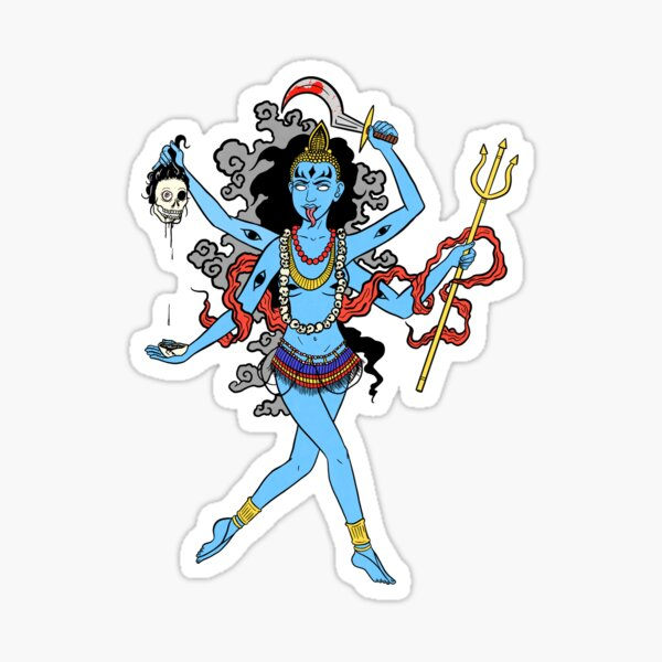 Maa Kali Sticker Photo