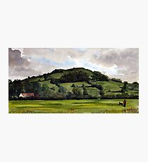 """""""End of Another Day"""" - Brent Knoll, Somerset Photographic Print"""