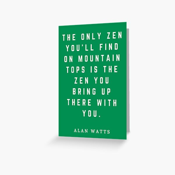 Alan Watts You are the Big Bang Paper Cut Recycled Paper Greeting Card