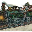 Vintage Train Christmas Card by GUTHRIE TERRITORIAL FOUNDATION