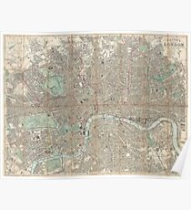 London vintage map Poster