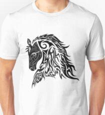 Tribal Tattoo Style Horse Unisex T-Shirt
