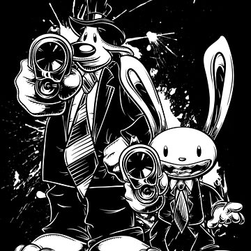 Sam & Max X Pulp Fiction (white) by crula