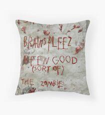 zombies letter to Santa Throw Pillow