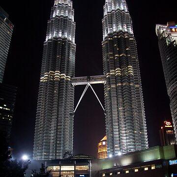 Petronas Towers at Night by joffotron
