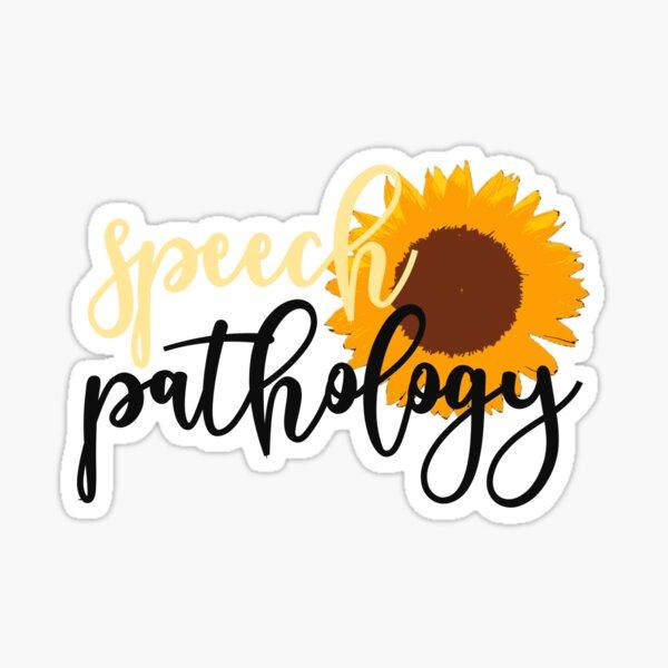 Speech Pathology Sunflower Sticker