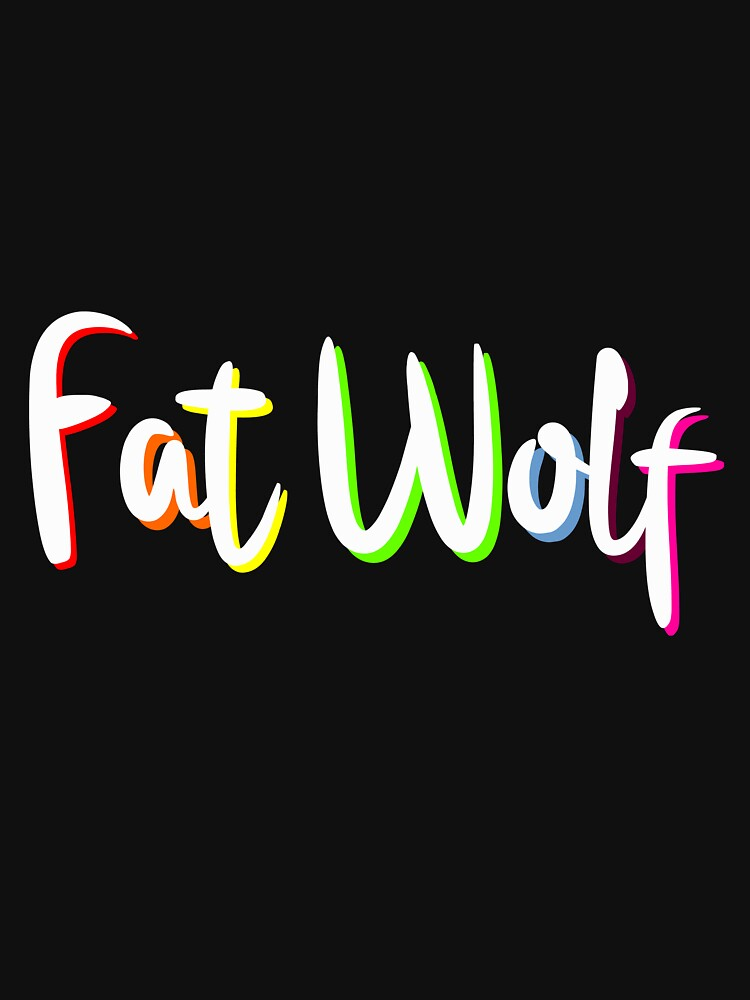 Fat Wolf Rainbow by danbadgeruk