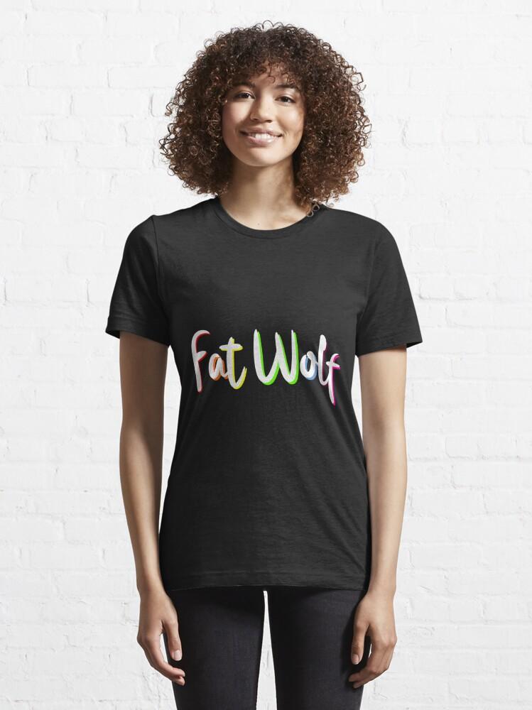 Alternate view of Fat Wolf Rainbow Essential T-Shirt