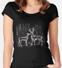 Open at the Close Women's Fitted Scoop T-Shirt