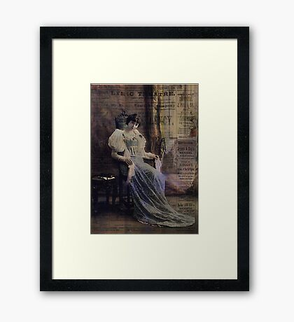 Bring up the Curtain Framed Print