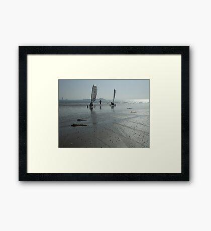 Fun on the beach Framed Print