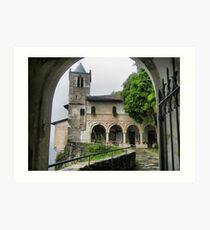 Eremo di Santa Caterina al Sasso - The Church facade Art Print
