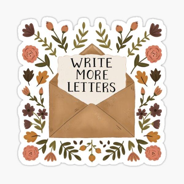 Write More Letters Sticker
