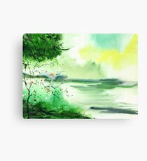 Lake in clouds Canvas Print