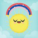 Sonne und magischer Regenbogen von jsongdesign