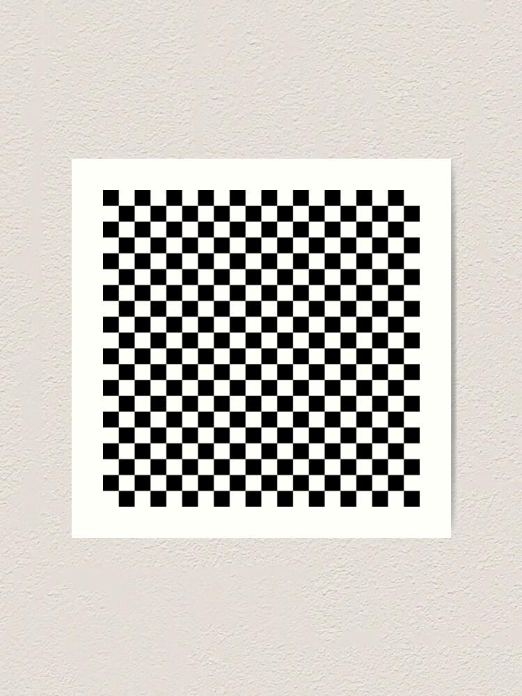 Grand échiquier Checker carrés Monochrome Imprimé Leggings