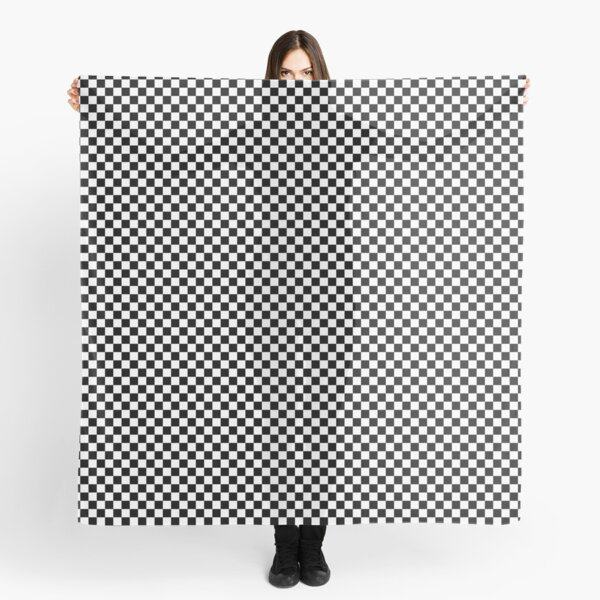 Check pattern. Checkered pattern. Black and white check pattern. Checkerboard. Chessboard. Scarf