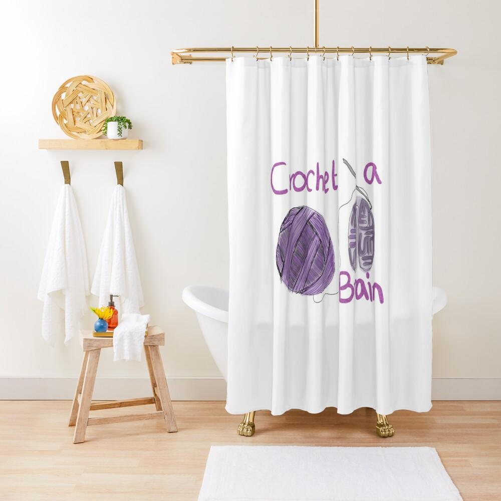 Crochet-a-Brain Shower Curtain