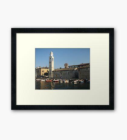 Italian Harbour Framed Print