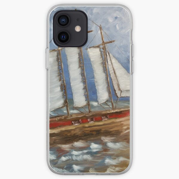 White Cap (oil on canvas) iPhone Soft Case