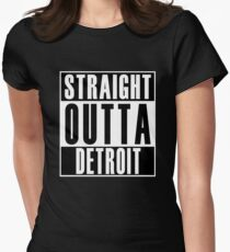 Straight Outta Detroit Women's Fitted T-Shirt