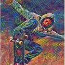 Skateboarding Art by cadcamcaefea