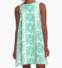 Yellow Blooms A-Line Dress