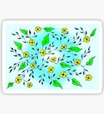 Yellow Blooms Glossy Sticker