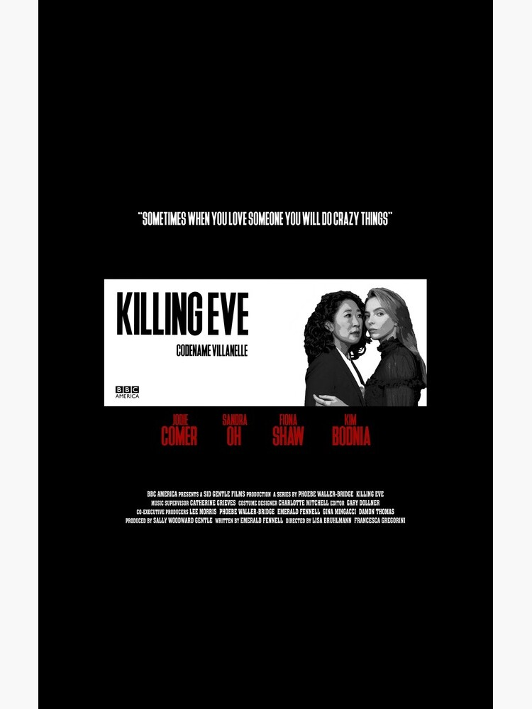 Killing Eve Movie Poster by someteaandtoast