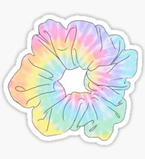 pastel tie dye scrunchie Sticker