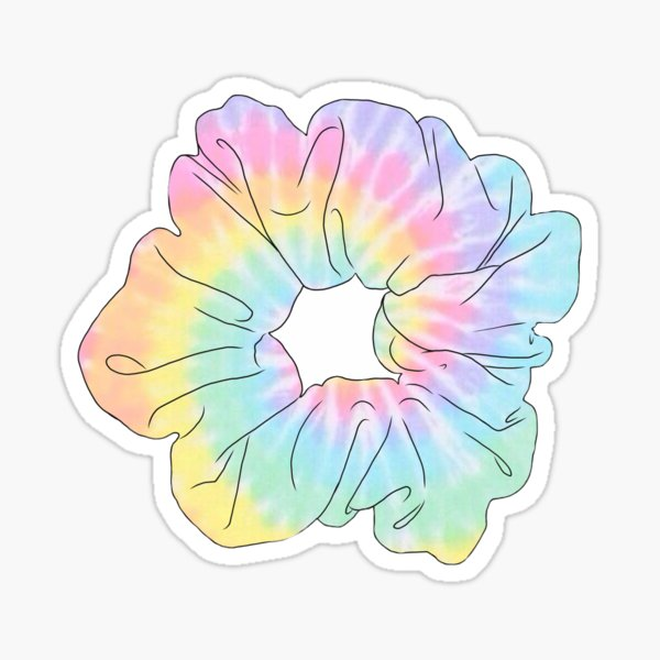 pastel tie dye scrunchie Sticker