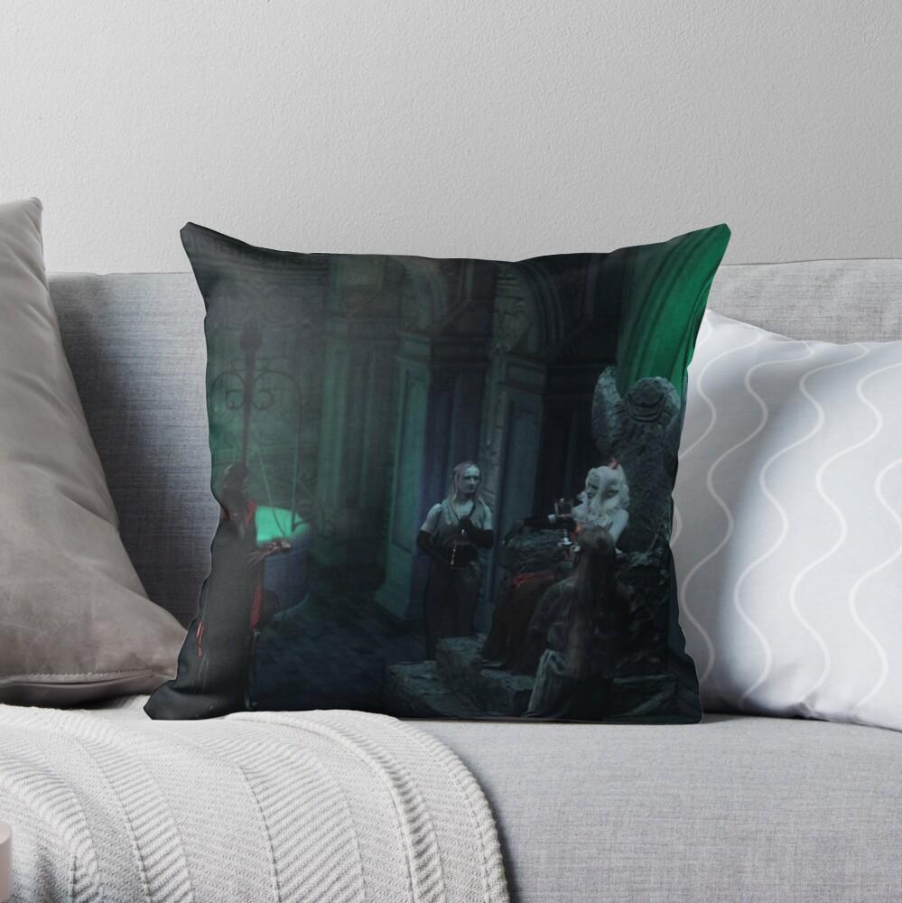 Elf Queen Castle from Gathering of Heroes: Legend of the Seven Swords Throw Pillow