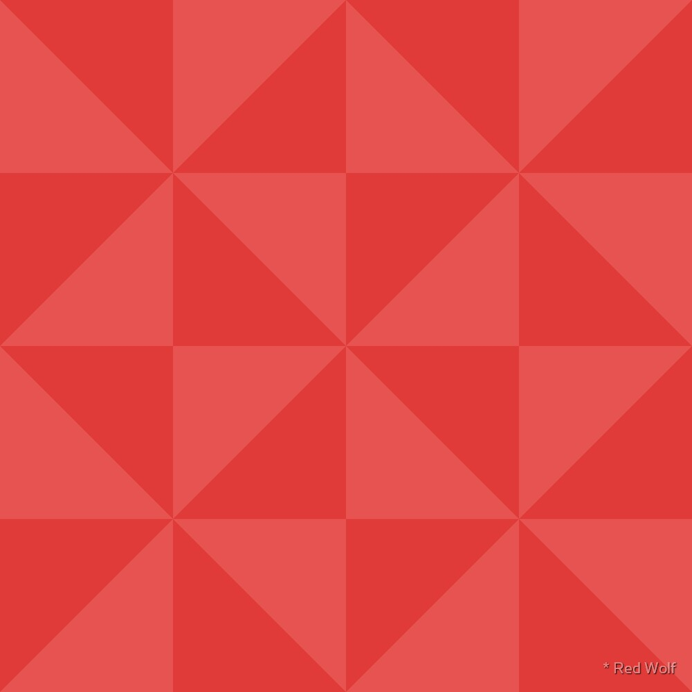 Geometric Pattern: Square Triangle: Dark Red by * Red Wolf
